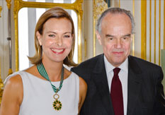 Carole Bouquet and Mitterrand